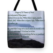 Prayer Of St Francis Of Assisi Tote Bag by Sharon Elliott
