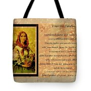 Prayer To St. Dymphna 2 Tote Bag