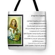 Prayer To St. Dymphna Tote Bag