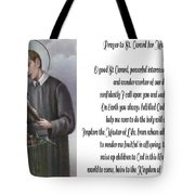 Prayer To St. Gerard For Motherhood Tote Bag