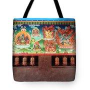 Prayer Wheels And Paintings Tote Bag