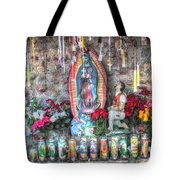 Prayers To Our Lady Of Guadalupe Tote Bag