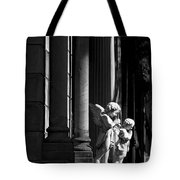 Praying Angle - Sucre Cemetery In Black And White Tote Bag
