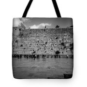 Praying At The Western Wall Tote Bag