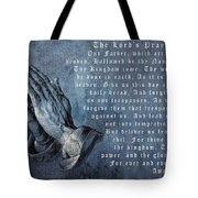 Praying Hands Lords Prayer Tote Bag by Albrecht Durer