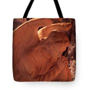 Praying Male Angel Near Infrared  Tote Bag
