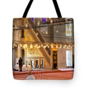 Praying Muslims Tote Bag