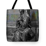Praying Statue In Chantilly Tote Bag