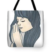 Praying Woman  Tote Bag