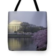 Pre-dawn At The Jefferson Memorial 2 Tote Bag