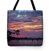 Pre-dawn Colors On Santa Rosa Sound Tote Bag