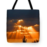 Pre Sunset Sky With Saguaro Tote Bag