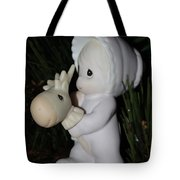 Precious Moments Baby Christmas Ornament Tote Bag