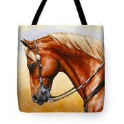 Precision - Horse Painting Tote Bag by Crista Forest