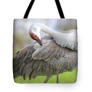 Preener Sandhill Crane Tote Bag