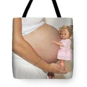 Pregnant Woman  Tote Bag