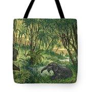 Prehistoric, Miocene Landscape Tote Bag