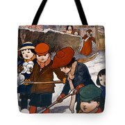 Preparing For The Snowball Fight Tote Bag