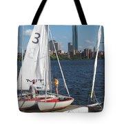 Preparing To Sail In The City. Tote Bag