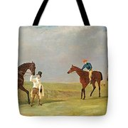 Preparing To Start For The Doncaster Gold Cup 1825 Tote Bag