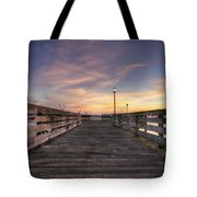 Prescott Park Boardwalk Tote Bag by Eric Gendron