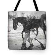 Presentation In Charcoal Tote Bag