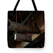 Preservation Hall Jazz Club Tote Bag