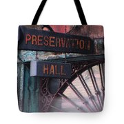 Preservation Hall Sign Tote Bag