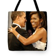 President And Michelle Obama Tote Bag