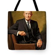 President Dwight D. Eisenhower By J. Anthony Wills Tote Bag