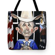 President George W Bush You Been Cubed Tote Bag