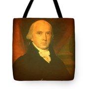 President James Madison Portrait And Signature Tote Bag