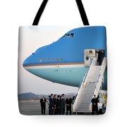 President Obama, Osan Air Base, Korea Tote Bag