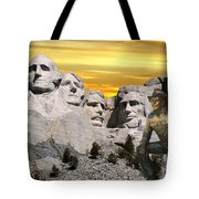 President Reagan At Mount Rushmore Tote Bag