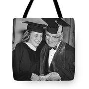 President Truman And Daughter Tote Bag