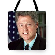 President William J. Clinton Tote Bag