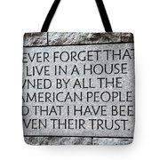 Presidential Message Tote Bag