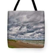 Presque Isle Beach 12061 Tote Bag