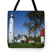 Presque Isle Mi Lighthouse 4 Tote Bag