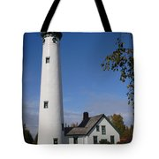 Presque Isle Mi Lighthouse 5 Tote Bag