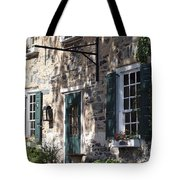 Pretty Brick Building And Flower Boxes Tote Bag