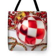Pretty Christmas Ornament Tote Bag