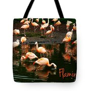 Pretty Flamingos Tote Bag