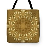 Pretty Golden Flowers Tote Bag