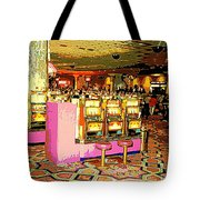 Pretty In Pink Bar Stools And Slots Reserved For Spring Break High Rollers   Tote Bag