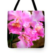 Pretty In Pink Cattleya Orchids Tote Bag