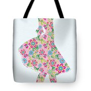 Pretty In Pink Flower Girl Tote Bag