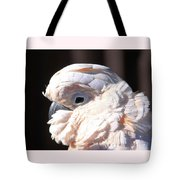 Pretty In Pink Salmon-crested Cockatoo Portrait Tote Bag