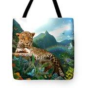 Pretty Jaguar Tote Bag by Alixandra Mullins