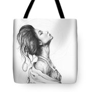 Pretty Lady Tote Bag by Olga Shvartsur
